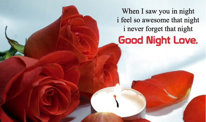 Good Night Love Flower Wallpaper