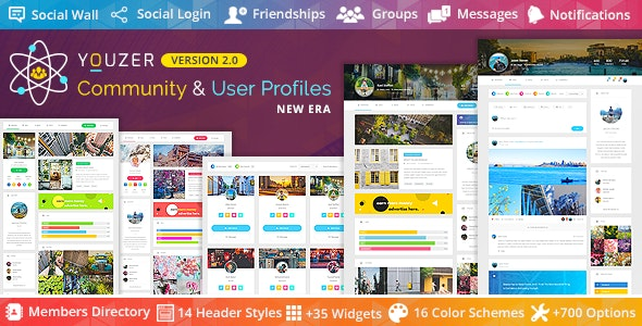 Download Youzer - Buddypress Community & Wordpress User Profile Plugin + add-ons