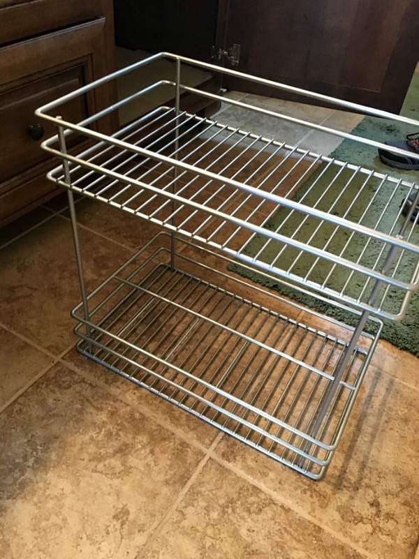 Double Pull Out Basket Organizer from ClosetMaid featured on Walking on Sunshine
