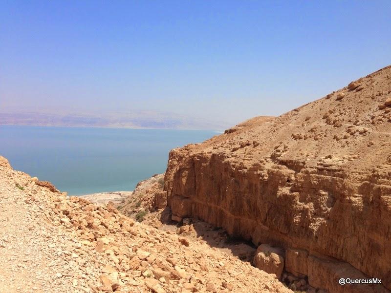 El Mar Muerto al fondo del Cañón Wadi David