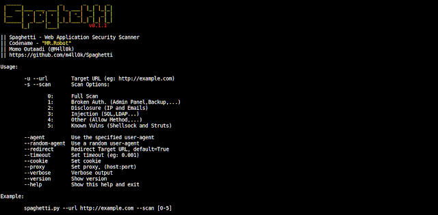Spaghetti A Web Application Security Scanner Tool
