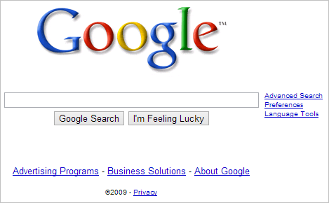 Google-website-in-2009