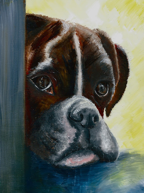 Dog And Pet Paintings Glum Boxer