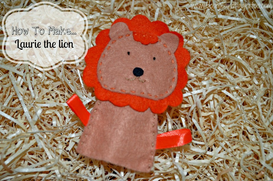 Crafts How To Make Laurie The Lion Finger Puppet Boo Roo And Tigger Too
