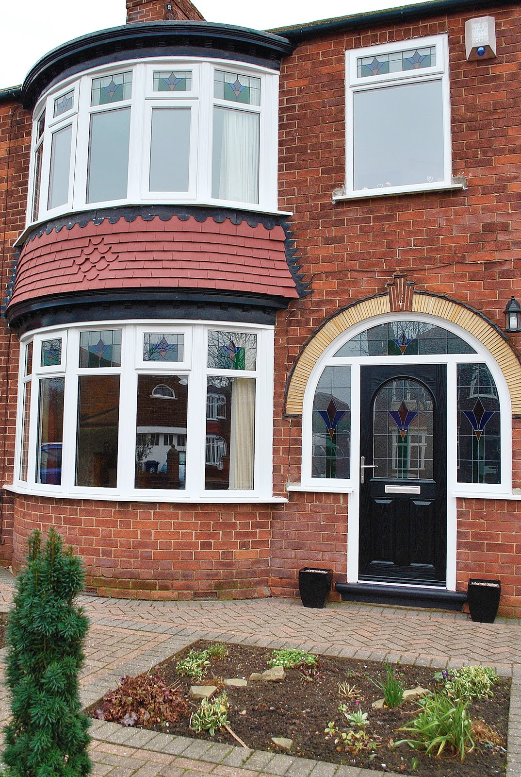 Beautiful house of upvc rehau windows composite doors for New windows and doors
