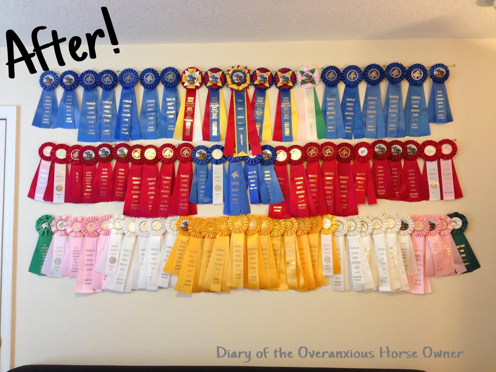 Diary of the Overanxious Horse Owner: Easy DIY Ribbon Display