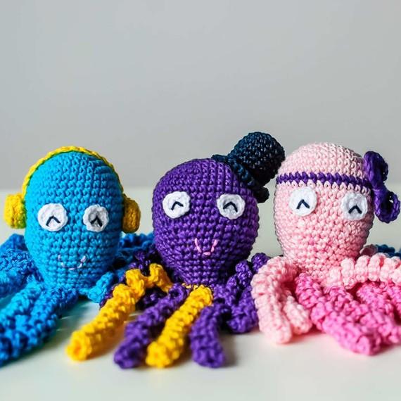 La Abuela Popera: Pulpos a crochet, los mejores amigos de los niños ...