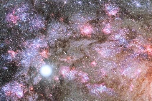Ilustrasi kelahiran bintang di inti galaksi elips muda Astronom Temukan Galaksi Ekstrim Yang Disebut 'Sparky'