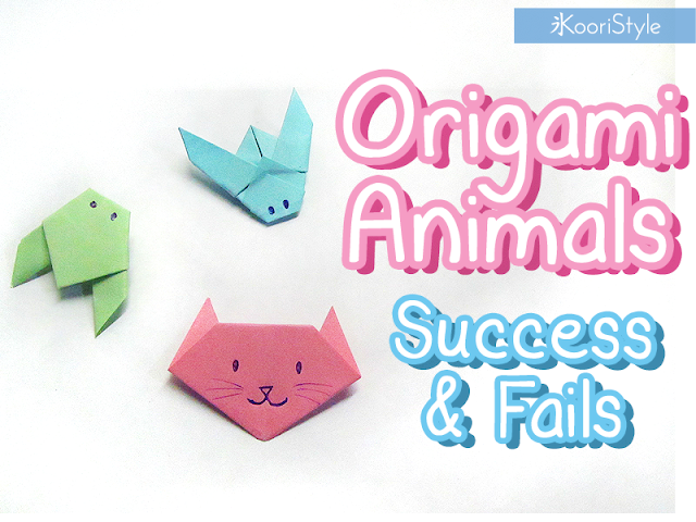 DIY, How to, Handmade, Crafts, Kawaii, Cute, Paper, Koori Style, KooriStyle, Koori, Style, Idea, Hidden Message, Easy, Quick, 折り紙, Origami, Cat, Racoon, Mouse, Bee, Cicada, Animals, Animales, Gato, Ratón, Cigarra, Mapache, Abeja