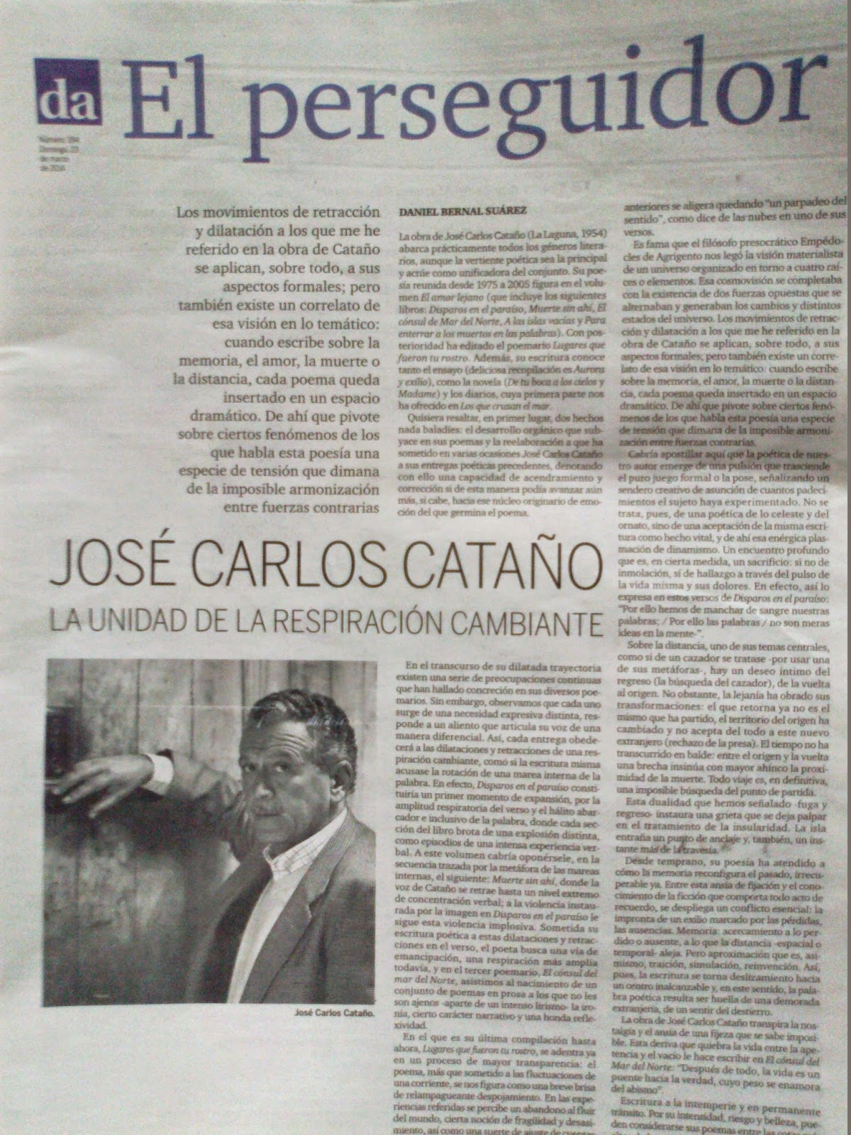 José Carlos Cataño o la unidad de la respiración cambiante