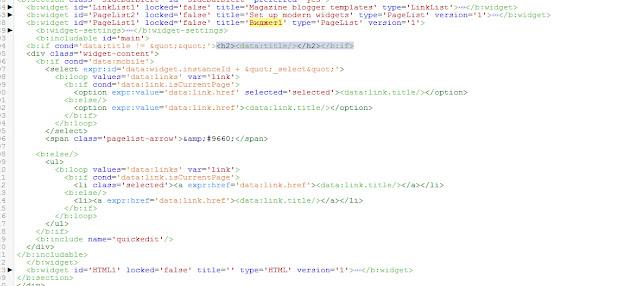 развернутый код виджета