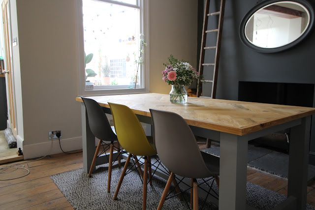 Modern Rustic Dining Table DIY