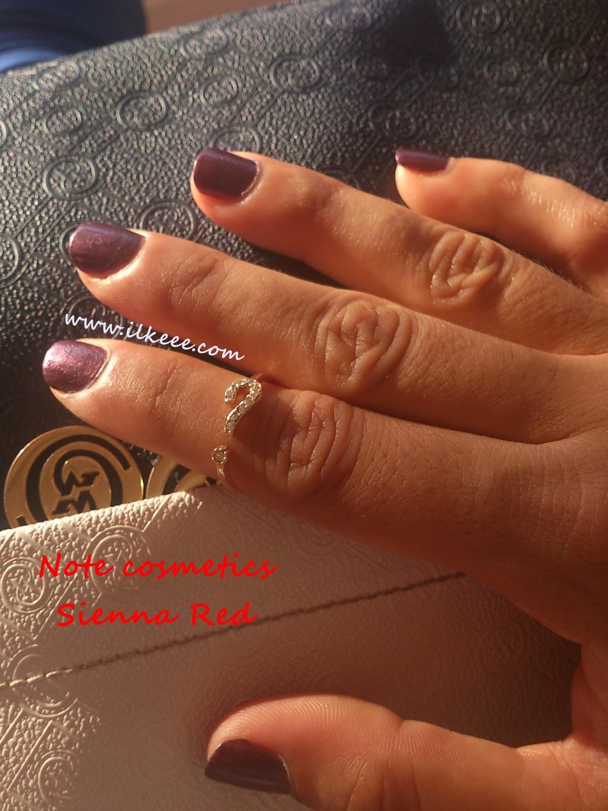 Note Cosmetics - Nail Polish - Sienna Red Oje - Note Ojeleri Kullananlar