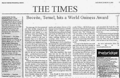 The Times Beceite World Guinness Award