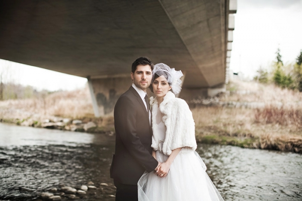 Wedding Dresses: Vintage Winter Wedding