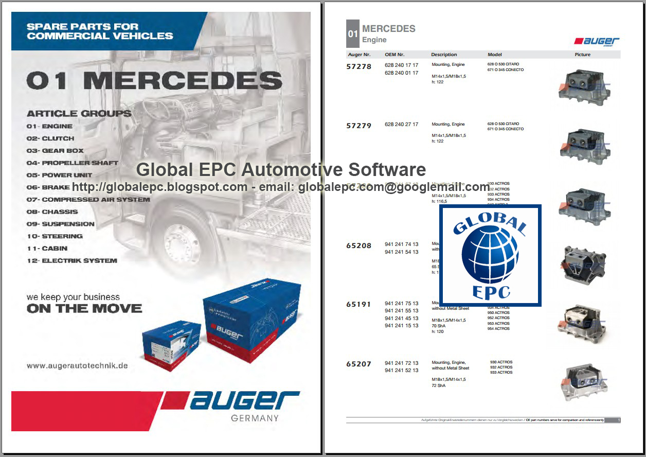 AUGER PARTS CATALOGUE 2006 2012 FOR TRUCKS BUSES AND TRAILERS