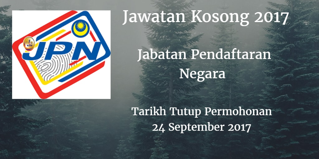 Jawatan Kosong JPN 24 September 2017