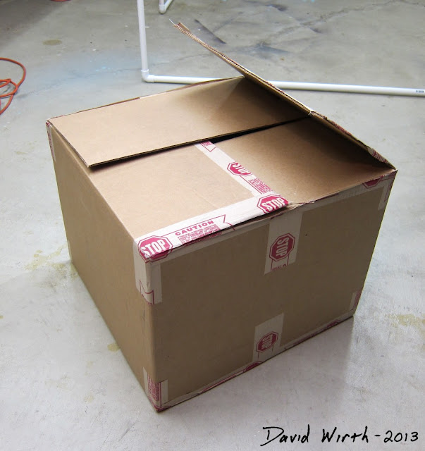 cardboard box, how to make a light box