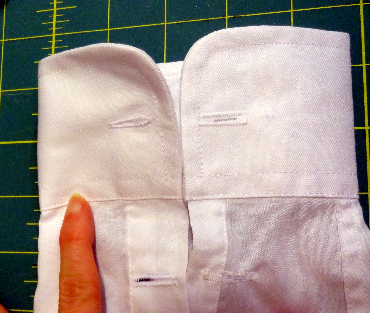 ac78ee0384c8b5 How to make a standard shirt cuff link ready | <datFeata:blog.title ...