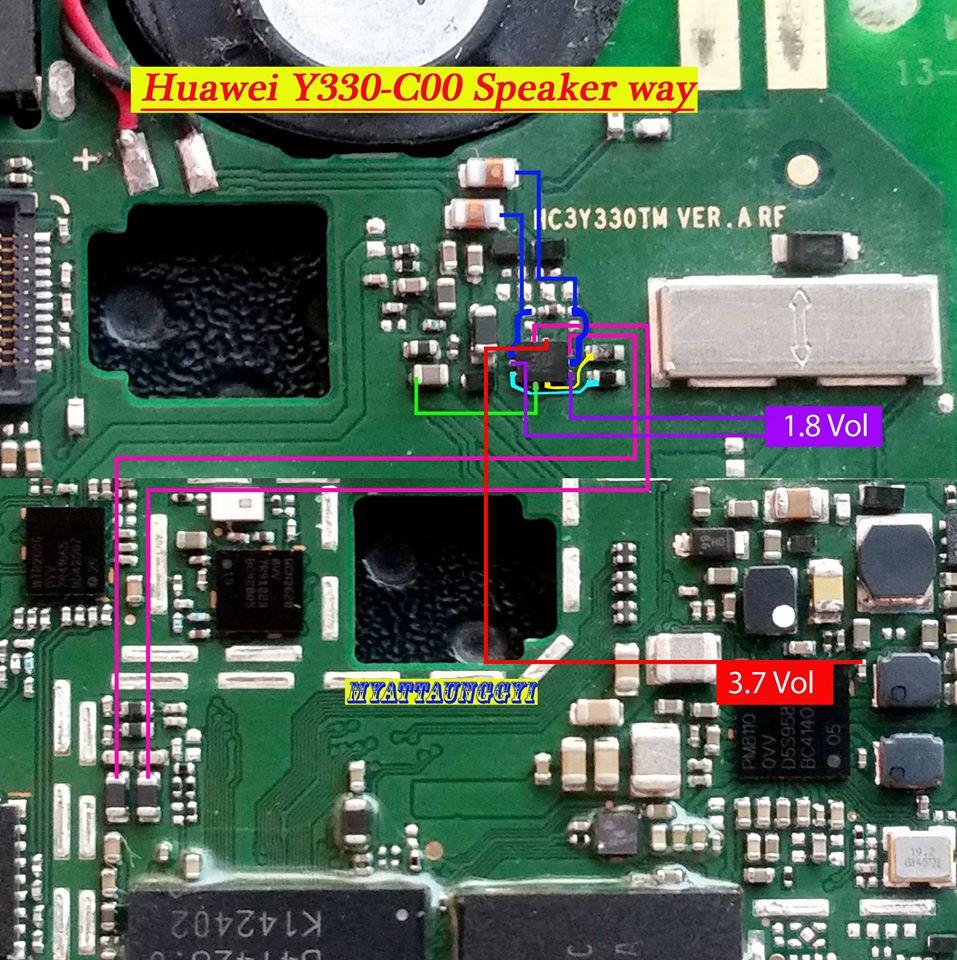 Huawei Y330C00 Speaker & Touch Way