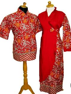 Long Dress Batik Kombinasi Modern Remaja