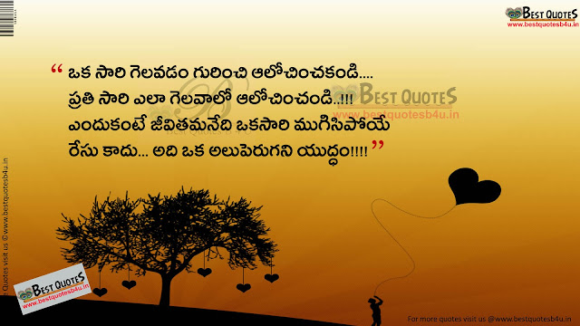 Inspirational whatsapp status telugu with hdwallpapers