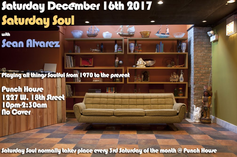 Saturday 12/16: Saturday Soul @ Punch House
