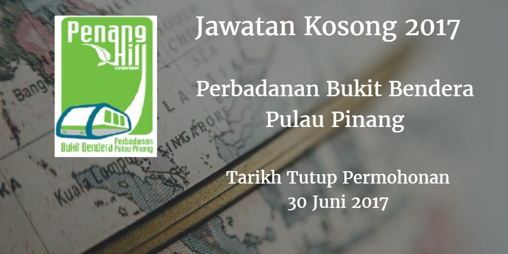 Jawatan Kosong Perbadanan Bukit Bendera Pulau Pinang 30 Juni 2017