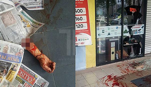 Lelaki mabuk maut selepas tumbuk cermin kedai