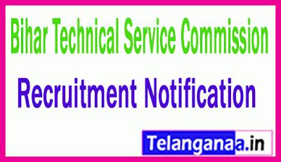 Bihar Technical Service Commission BTSC Recruitment Notification