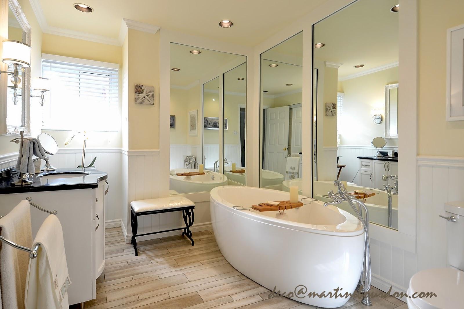 l 39 espace d co avant apr s grandeur et luminosit pour la salle de bain. Black Bedroom Furniture Sets. Home Design Ideas