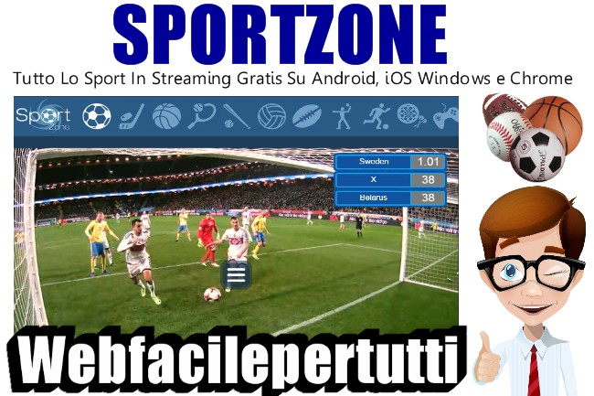 Sport Zone | Tutto Lo Sport In Streaming Gratis su Android, iOS, Windows e Chrome
