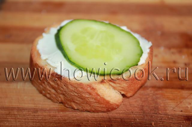 рецепт тостов с семгой и сливочным сыром с пошаговыми фото