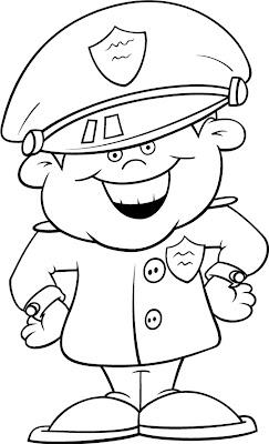 Desenho Infantil De Policial Para Colorir Desenhos Para Colorir