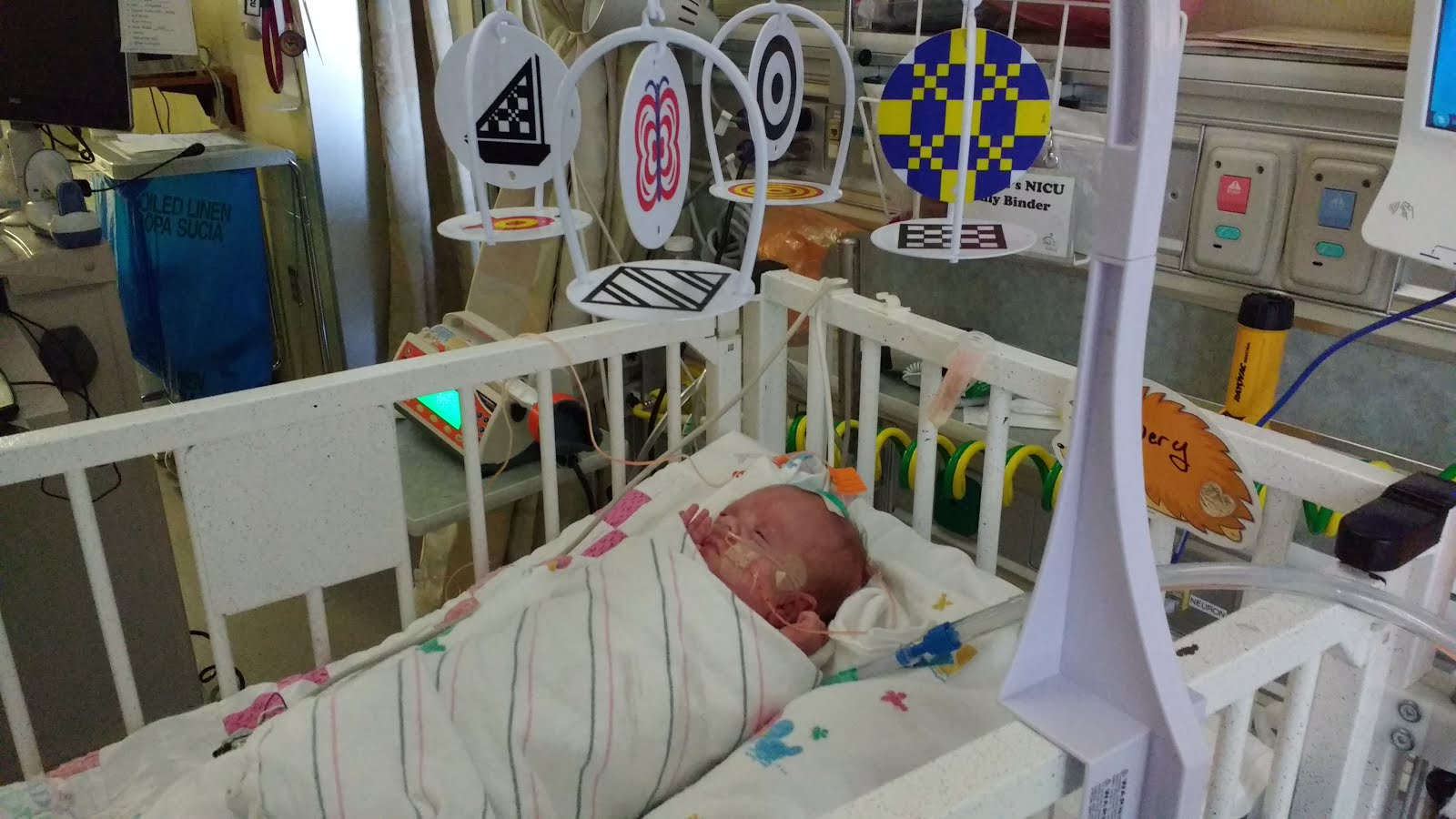 Special enclosed crib for premature babies - Not Only Are Wren And Avery Both In Cribs Now The Nurses Also Nabbed Some Mobiles Check Them Out