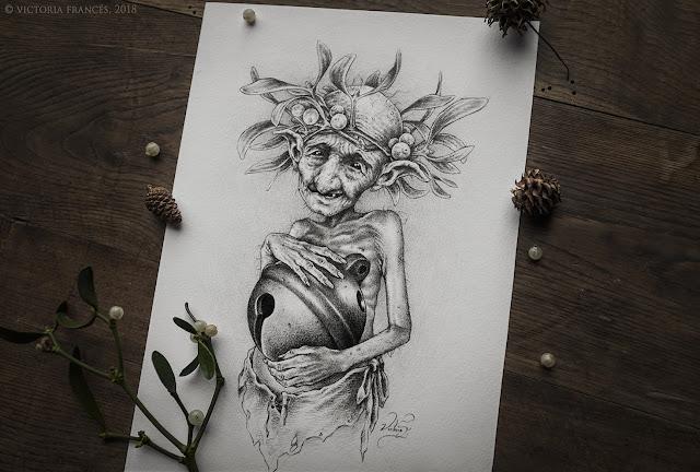 The Elemental Spirit of the Mistletoe by Victoria Francés