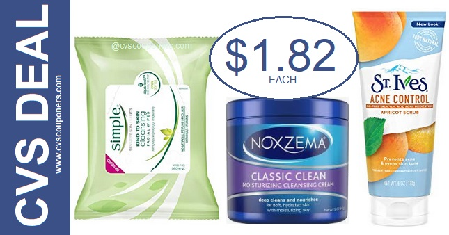 Simple, Noxzema & St. Ives CVS Deal - 5-19-5-25