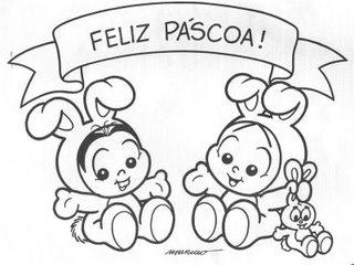 Desenho Feliz Pascoa Com A Turma Da Monica Colorir E Pintar