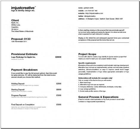 Interior design fee agreement template