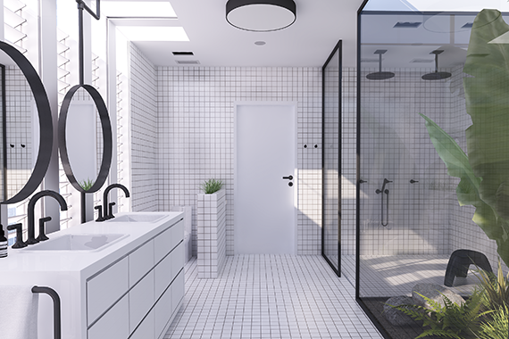 Urban contemporary bathroom my paradissi for Urban bathroom designs