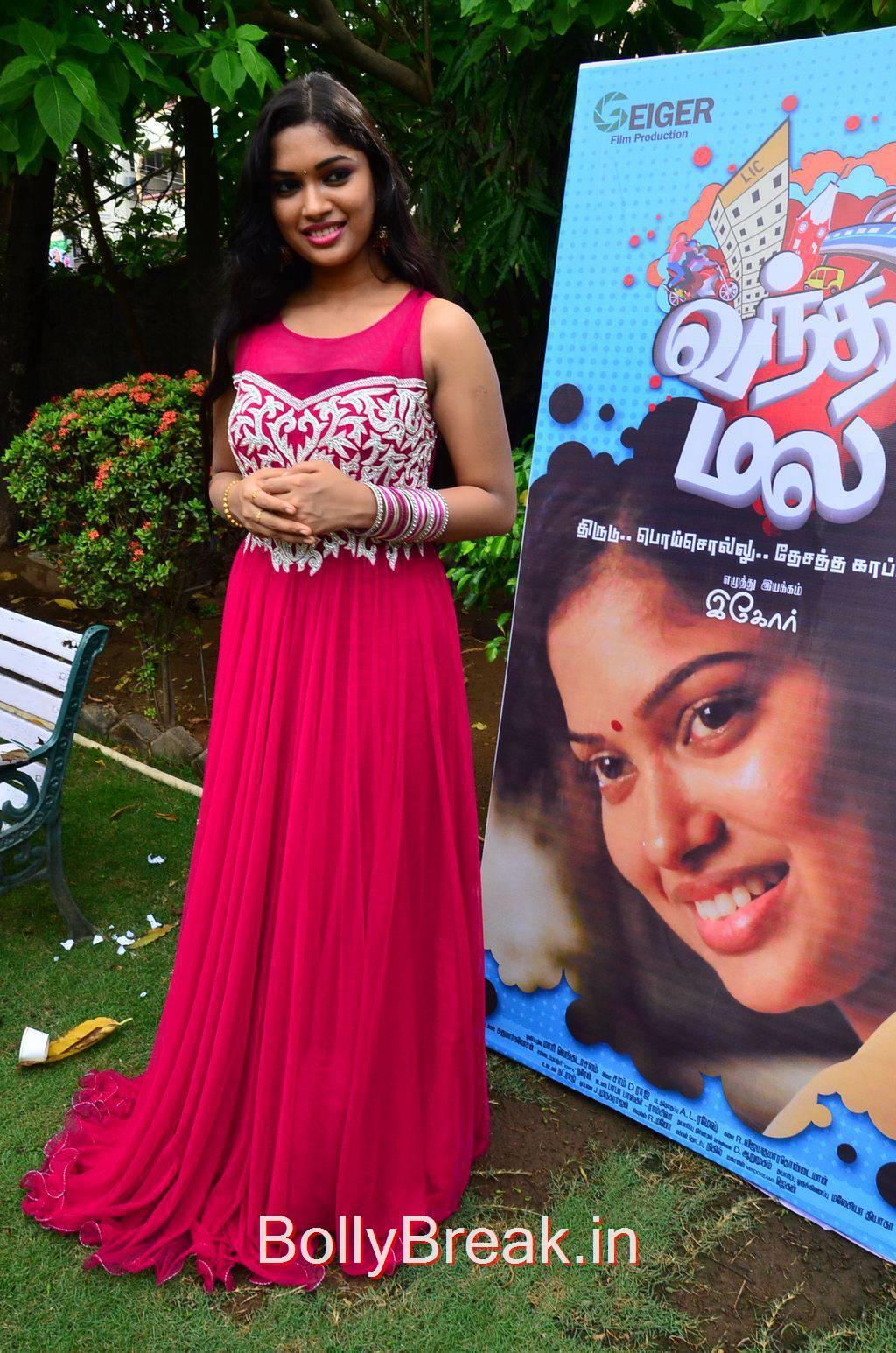 Kollywood Actress Priyanka, Priyanka Hot Pics from Vandha Mala Movie Press Meet