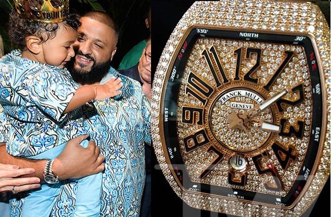 DJ Khaled buys his son Asahd $100k diamond-studded watch for 1st Birthday (Photo)