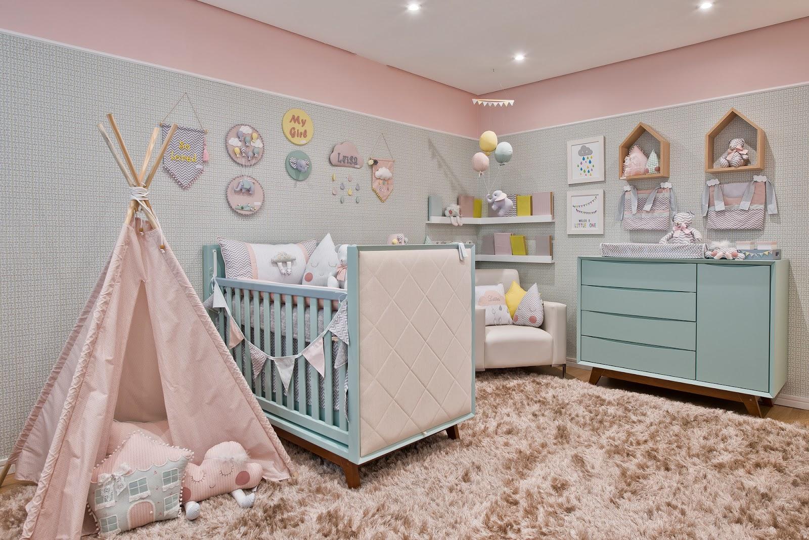 Quarto De Menina Com Cama Casinha E Tenda De Dormir Decorsalteado ~ Quarto De Bebê Montessoriano E Quarto Para Adolescentes