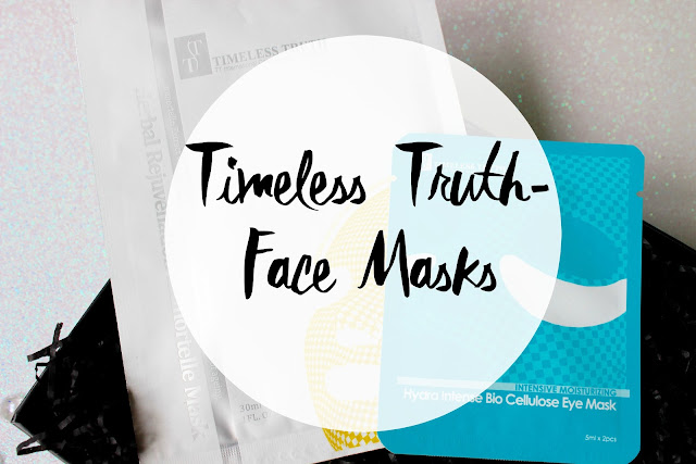timeless truth, face mask, rejuvenation mask, hydra intense bio cellulose eye mask,