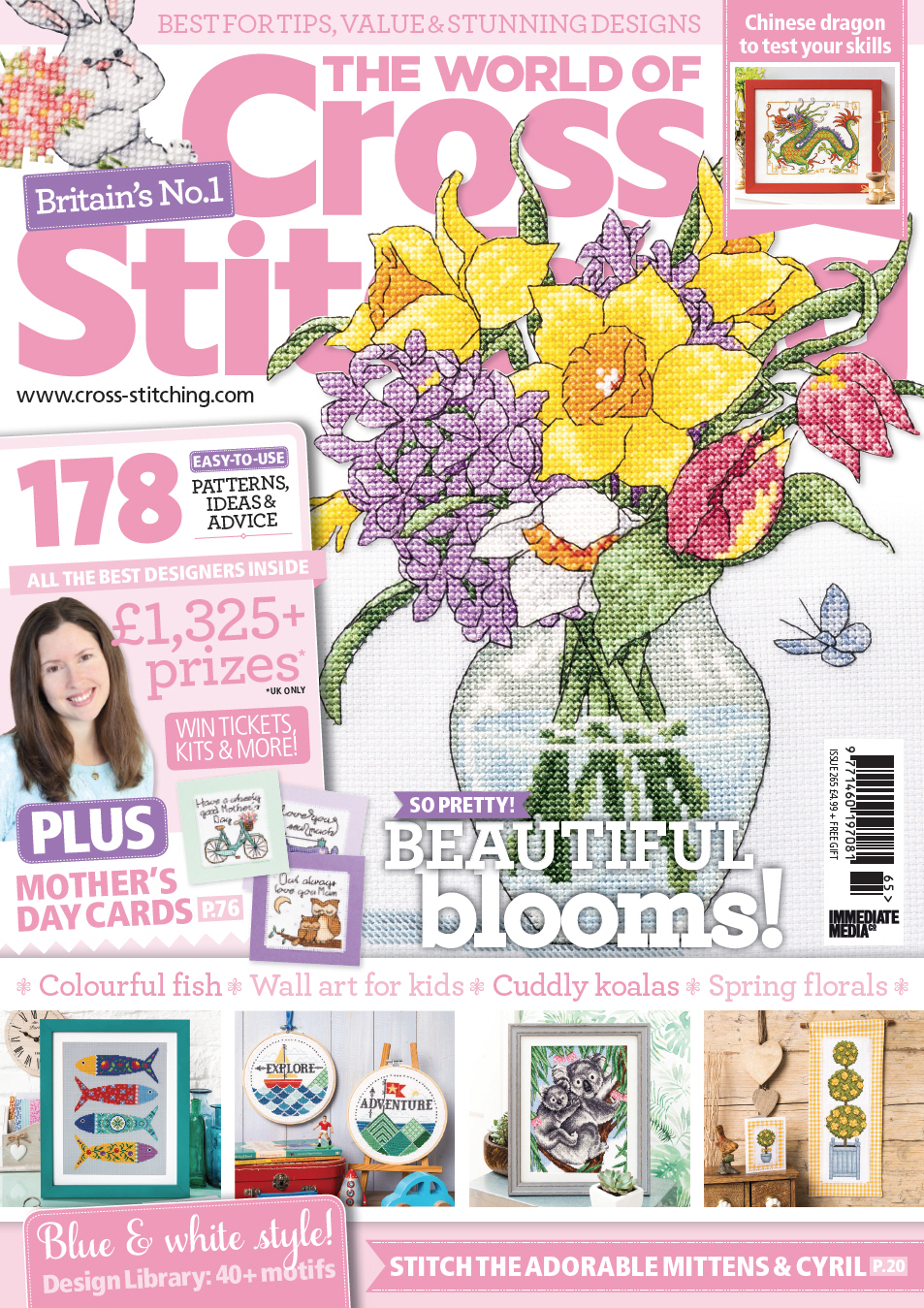 Homestitchness march 2018 issue 265 of the world of cross stitching magazine fandeluxe Images