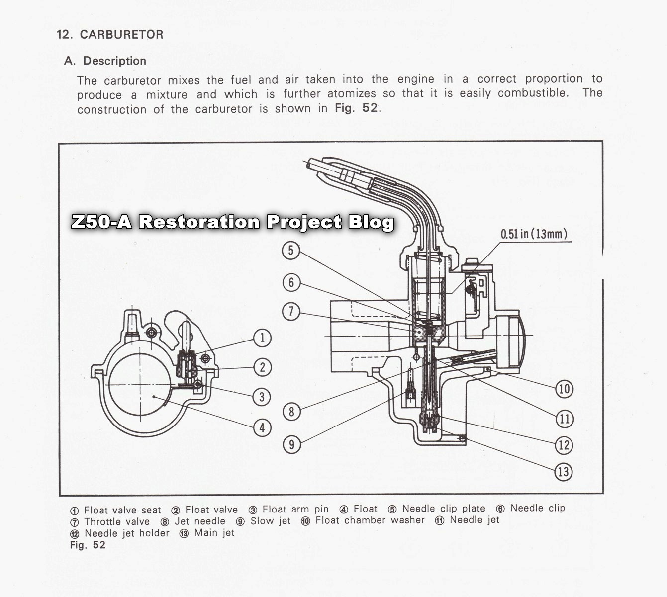 Vintage Honda / Keihin Carburetor Instruction Sheet + Repair Kit ...