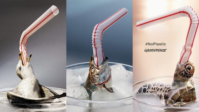 Evita utilizar pajitas o pitillos de plástico