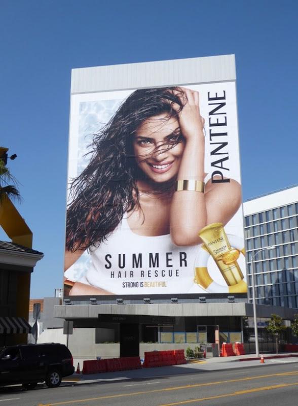 Giant Priyanka Chopra Pantene shampoo billboard