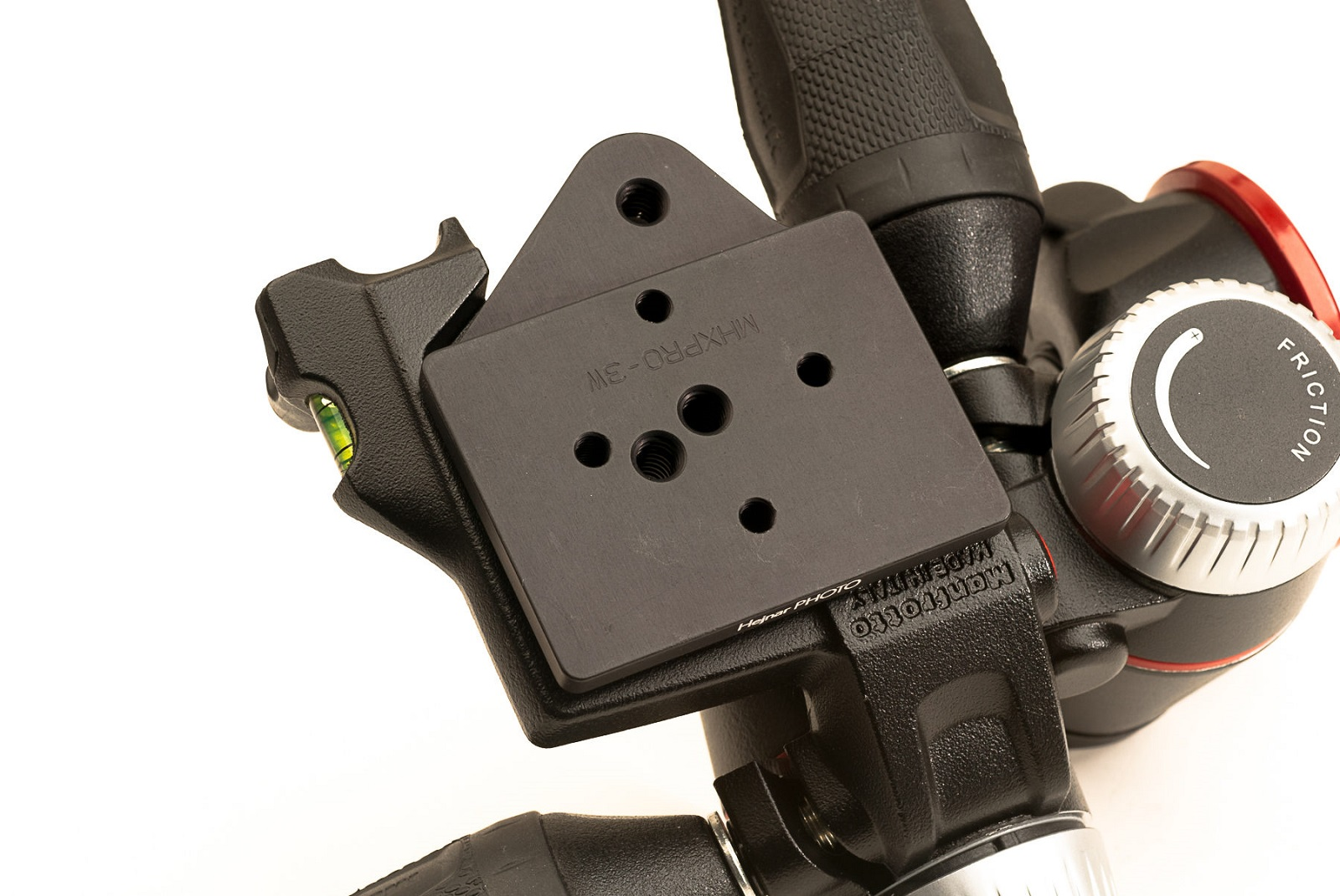 Hejnar Photo Conversion Plate installed on Manfrotto MHXPRO-3W
