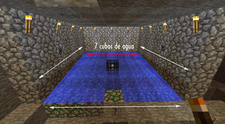 Minecraft Guía Trampa Para Generador De Monstruo Spawner